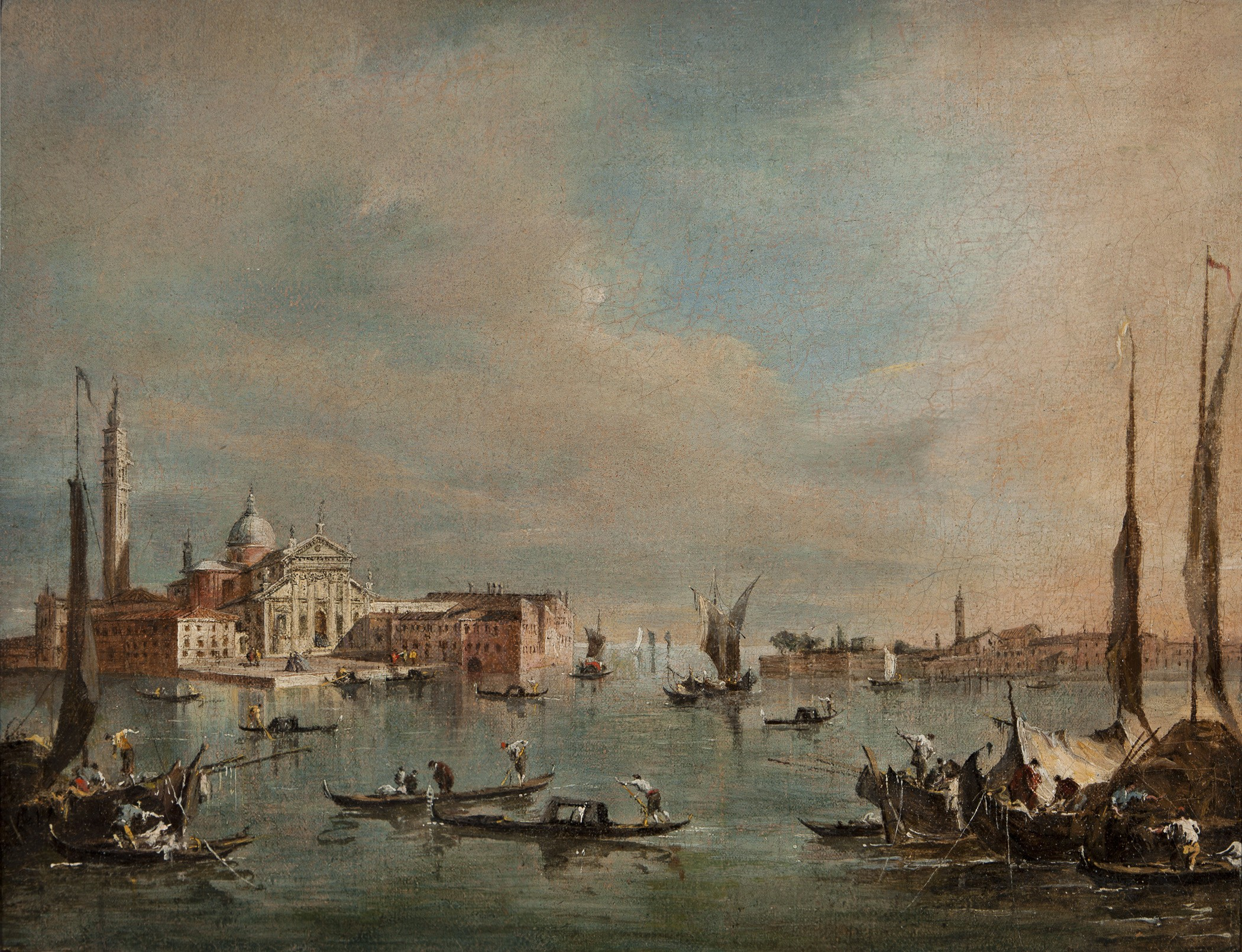 Francesco Guardi The Bacino di San Marco with the Isola di San ...